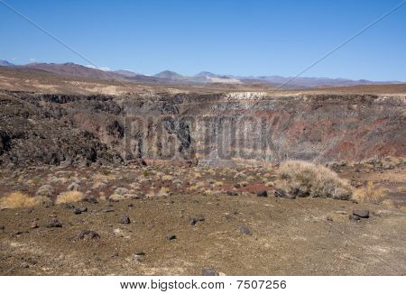 Extinct Volcanic Area In Panamint Valley, California