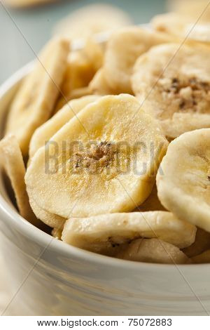 Homemade Dehydrated Banana Chips