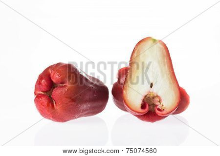 Group Of Rose Apples With One Piece Of Slide