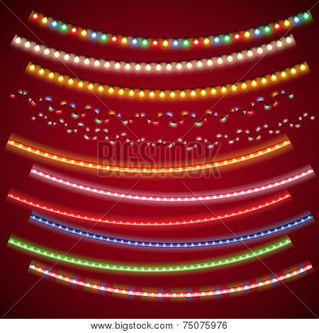 Christmas Electric Garlands Set