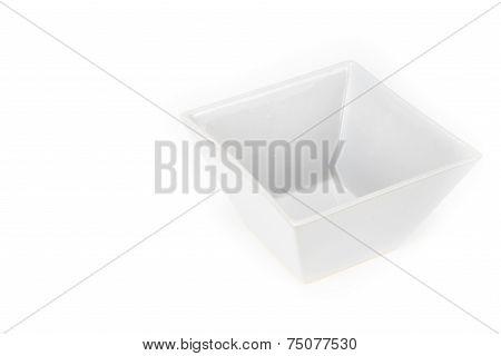 Empty Square Cone Shape Bowl