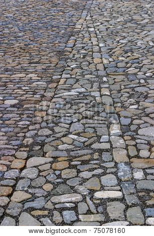 Cobbled street pattern background