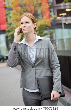 Businesswoman On Her Way To A Meeting