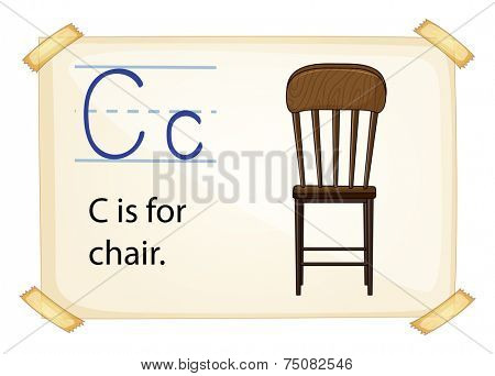 Illustration of c for chair