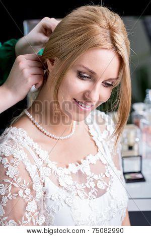 Pretty Bride During Wedding Preparations