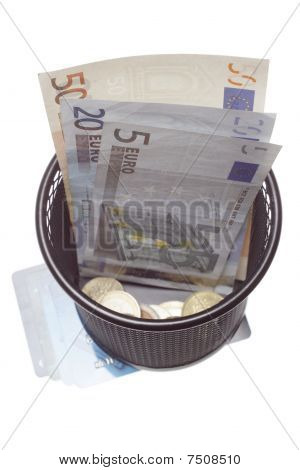 Trash With Banknotes As Metaphor