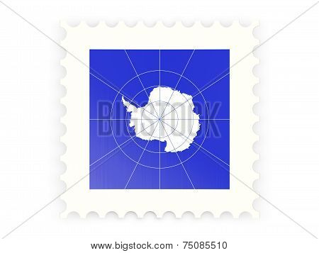 Postage Stamp Icon Of Antarctica