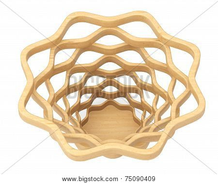 Closeup Wicker Basket