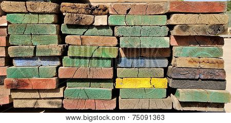 Multicolor Scaffolding Planks