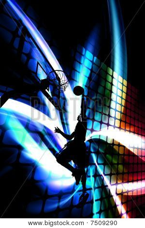 Abstract Basketball Silhouette