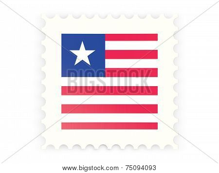 Postage Stamp Icon Of Liberia