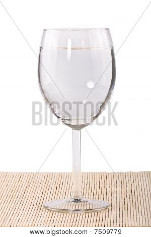 Transparent Glass Of Water Isolated
