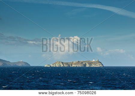 Ile De La Giraglia On The Northern Tip Of Cap Corse