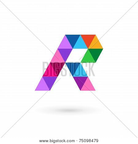 Letter R Mosaic Logo Icon Design Template Elements