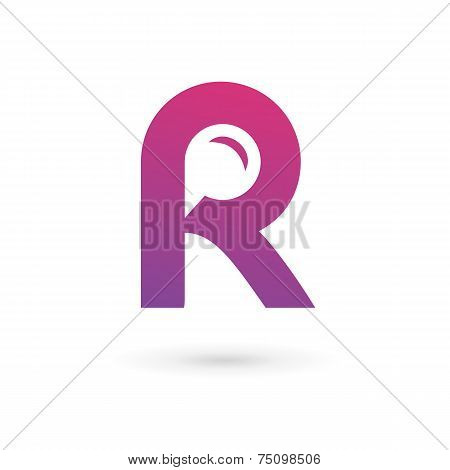 Letter R Speech Bubble Logo Icon Design Template Elements