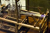 foto of handloom  - a old chinese loom in china . ** Note: Shallow depth of field - JPG