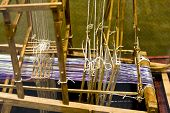 picture of handloom  - a old chinese loom in china . ** Note: Shallow depth of field - JPG
