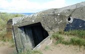 picture of ww2  - Germany bunker WW2 Utah Beach is one of the five Landing beaches in the Normandy landings on 6 June 1944 during World War II - JPG