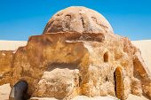 stock photo of tozeur  - Buildings in Ong Jemel Tunisia - JPG