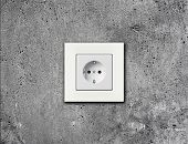 image of electric socket  - one electric socket - JPG