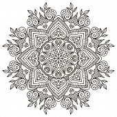 picture of ottoman  - Mandala - JPG