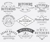 stock photo of meat icon  - Vector butcher meat badges and labels for any use - JPG