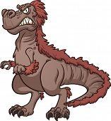 image of tyrannosaurus  - Angry Tyrannosaurus Rex - JPG