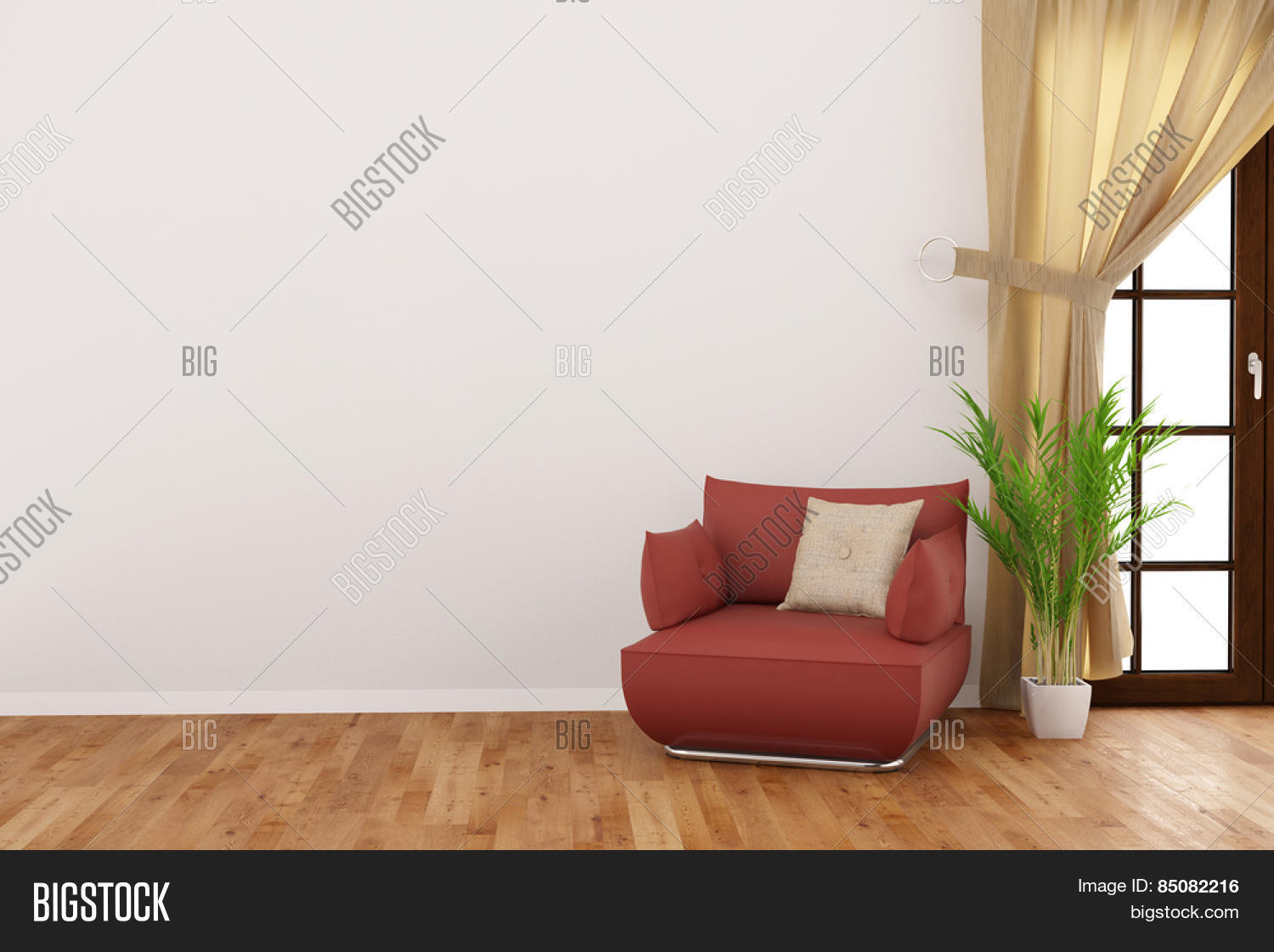 Empty wall living room armchair image photo bigstock What to do with an unused living room