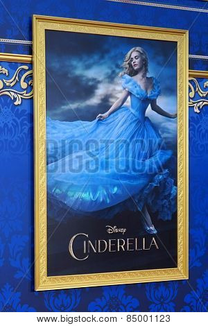 LOS ANGELES - MAR 1:  Cinderella Poster at the