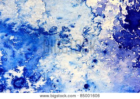 Blue Macro Watercolor 10