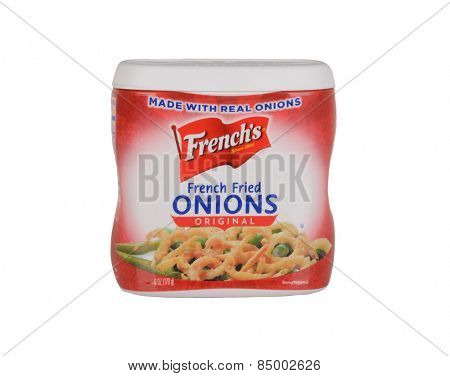 Los Angeles,California Feb 12th 2015: Nice Image of delicious French's French Fried Onions