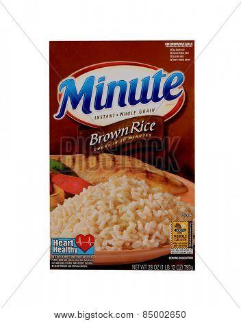 Los Angeles,California Feb 12th 2015: Box Of brown Minute Rice