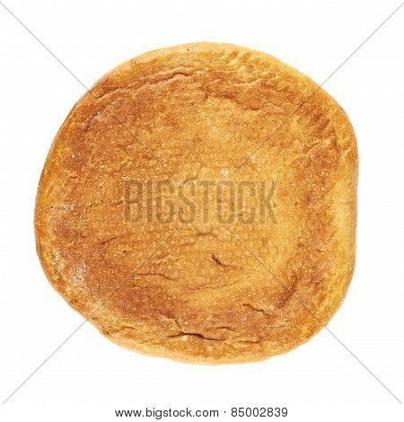 Round loaf of bread isolated