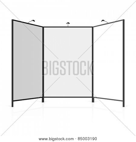 Blank trade show booth. Vector.