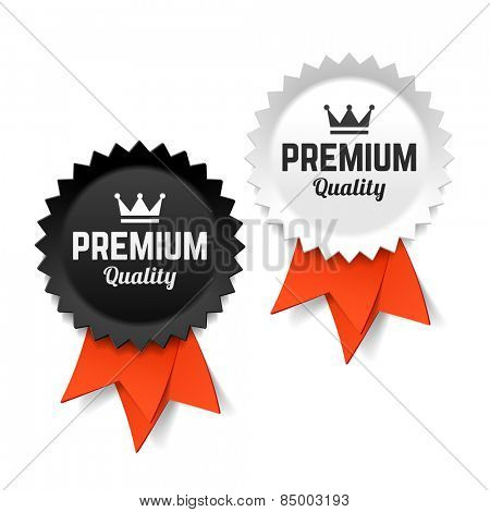 Premium quality labels. Vector.