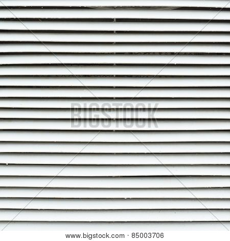 White metal window blinds fragment