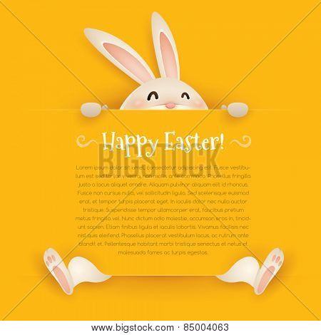 Happy Easter! Easter greeting card. Wide copy space for text.