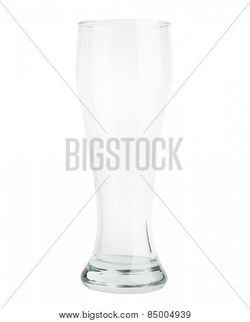 Empty beer glass Isolated on white background
