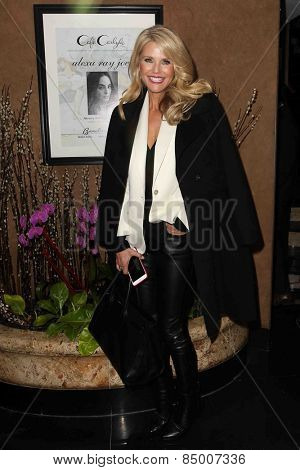 NEW YORK-FEB 24: Supermodel Christie Brinkley attends the concert performance by her daughter, Alexa Ray Joel, at Cafe Carlyle on February 24, 2015 in New York City.