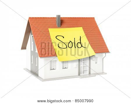 An image of a nice model house with a text sold