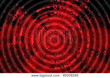 Red and black ripple pattern. Abstract background.