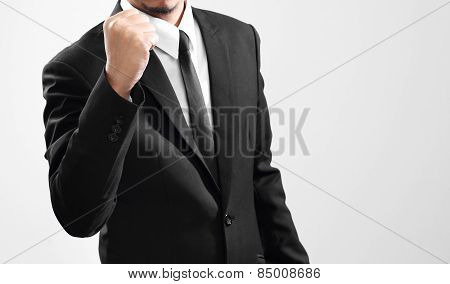 businessman acting finish from his performance