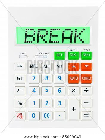 Calculator With Break