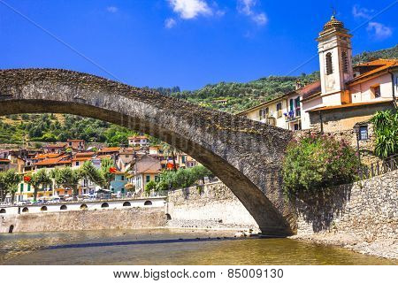 Dolceaqua - pictorial medieval village in Liguria, Italy