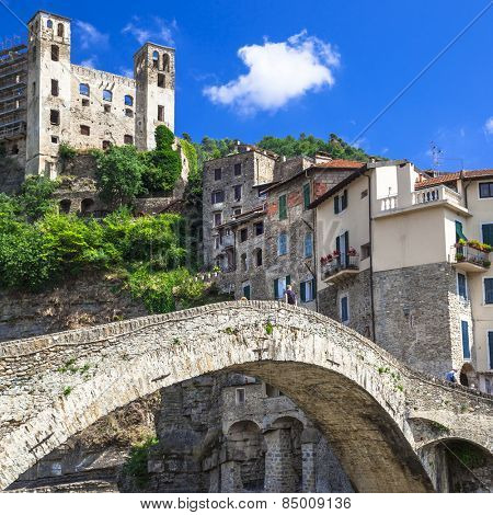 Dolceaqua - medieval village in Liguria, Italy