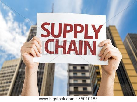 Supply Chain card with urban background