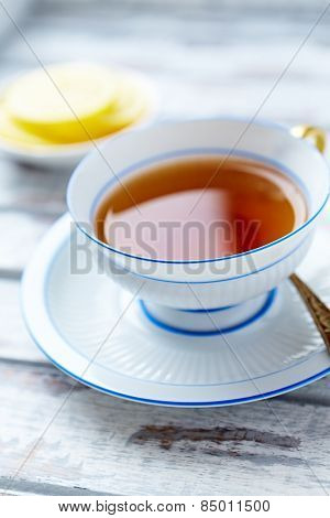 A cup of earl gray tea