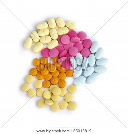 Composition of the tablets.