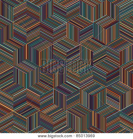 color stripe cube pattern