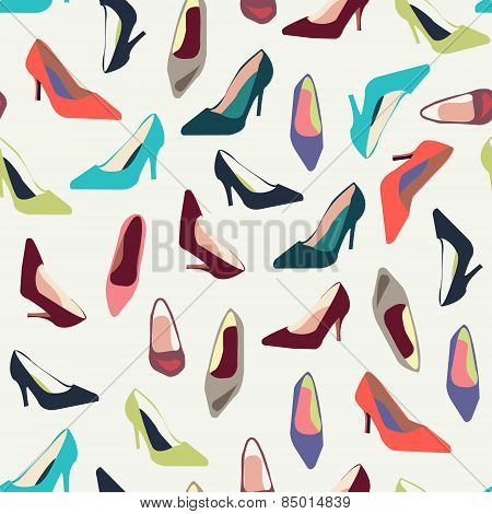 Pattern  Of Women's Shoes With Heels